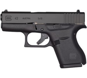 New Glock 43, 9mm, 6 Rounds, 2 Magazines: $449