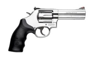 New S&W 686, L-Frame, .357 Magnum, 4″ Barrel, Stainless Steel Frame, Satin Stainless Finish, Adjustable Rear Sight, 6 Rounds: $699