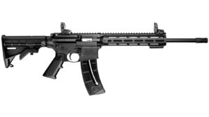 New Smith & Wesson M&P 15-22, .22LR, 16.5″ Threaded Barrel, Black Finish, Collapsible Stock, 25 Rounds: $399