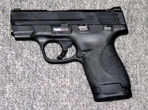 Preowned Smith & Wesson M&P Shield, 9mm, 7&8 Rounds, 3.1″ BBL, External safety: $339