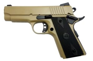 New Rock Island M1911A1, .45 ACP, 3.5″, 7 Rounds, External Safety, Flat Dark Earth Finish: $449