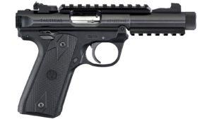 New Ruger Mark IV 22/45 Tactical, .22 LR, 4.40″ Threaded Barrel, 10 Rounds, Adjustable Rear Sight, Picatinny Rails, Black Alloy Frame: $399