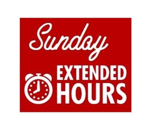 Extended Sunday Hours