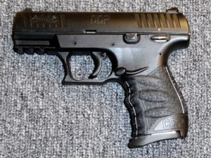 Preowned Walther CCP, 9mm, 3.54″ Barrel, Polymer Frame, Black Finish, 2 magazines, 8 Rounds: $329